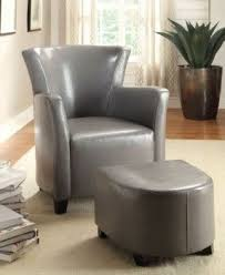 Chair With Matching Ottoman Leather Chair And A Half With Ottoman Foter