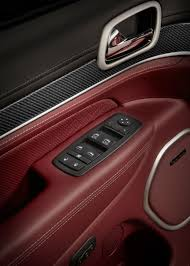 jeep grand cherokee red interior jeep officially debuts 2018 grand cherokee trackhawk