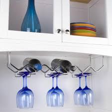 spectrum under the cabinet wine and glass butler wine rack hayneedle