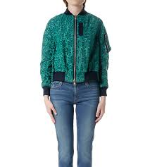 sacai luck sacai luck green and navy lace varsity jacket garmentory