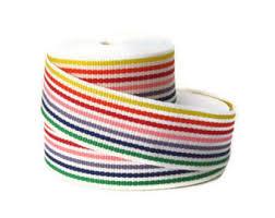 striped grosgrain ribbon multi color ribbon etsy
