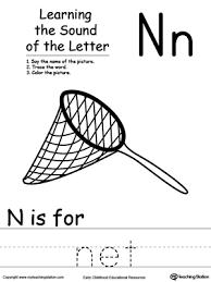 learning beginning letter sound n