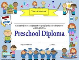preschool certificates diplomas certificates graduation invitations editable