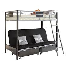 furniture of america cletis youth twin over futon bunk bed with