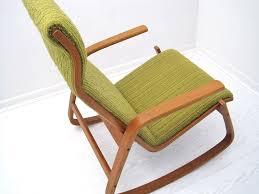 mid century scandinavian bentwood rocking chair mix vintage