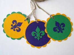 mardi gras gifts gift tags set of 12 mardi gras fleur de lis mardi gras gift