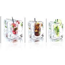 glasbilder küche murando acrylglasbild drink 120x40 cm glasbilder wandbilder