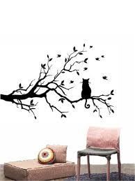 wholesale cat long tree branch diy vinyl wall sticker decals positive feedback our goal factory direct selling competitve price quality items are sold store free fast safe delivery