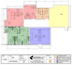 Office Plans by Office Floor Plan For Two Large Offices And Cubicles In New York