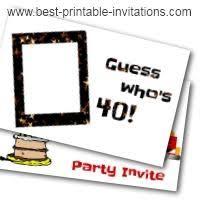 printable 40th birthday invitations templates printable invitations