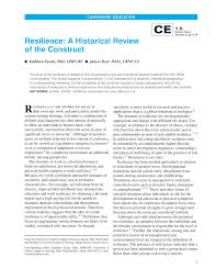 resilience a historical review of the construct pdf download