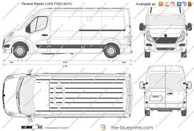 renault master 2011 the blueprints com vector drawing renault master l3h2 fwd