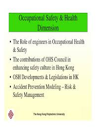 week 7 safety and health dimensions occupational safety and