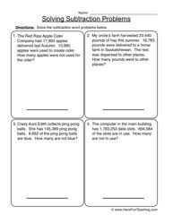 subtraction word problems subtraction word problems worksheet 2
