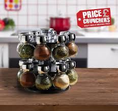 glass kitchen canisters 16 piece kitchen revolving glass masala herbs spice jar rack