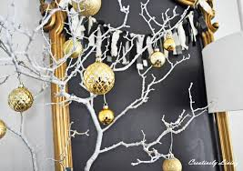 make a branch christmas tree christmas lights decoration