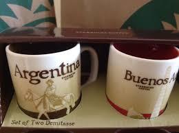 new starbucks argentina buenos aires set two demitasse mugs 3 fl