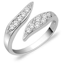 designer rings images peora sterling silver designer ring in cubic zirconia pr1236