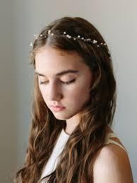 hair wreath pearl bridal halo ilse hair wreath davie chiyo