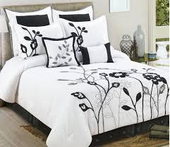 Black Floral Bedding Bedroom Full Size Black And White Canopy Bedding Set Inspiration