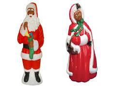 outdoor plastic lighted santa claus mr mrs santa claus outdoor indoor light up yard christmas