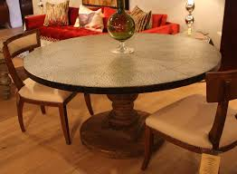 round pedestal dining room table round pedestal dining table with zinc top u2013 mortise u0026 tenon