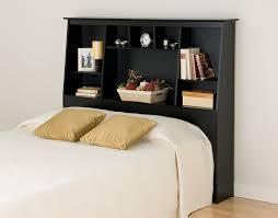 Sauder Bookcase Headboard by Amazon Com Black Full Queen Tall Slant Back Bookcase Headboard