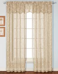 Sheer Curtains With Valance Embroidered Sheer Curtain United View All Curtains