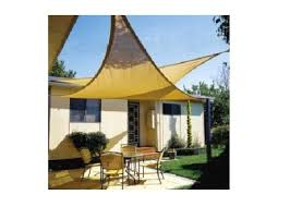 Backyard Shade Canopy by Amazon Com New Prosource Sand Color 16 U0027 Oversized Sun Shade Sail