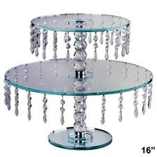 glass tiered cupcake stand silver round cake plateau