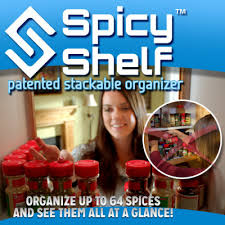 Best Spice Racks For Kitchen Cabinets Spicy Shelf Spice Organizer As Seen On Tv Com Store