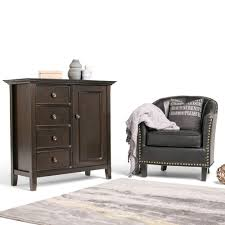 Storage Home by Simpli Home Amherst Dark Brown Storage Cabinet Int Axcamh Med Dab