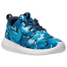 rosh run nike rohserun print roshe run blue camo nsw mens running shoes