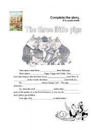 worksheet pigs story