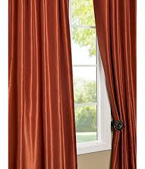 Burnt Orange Curtains Sale Half Price Drapes Pdch Kbs16 108 Vintage Textured Faux Dupioni