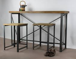 Breakfast Bar Table Classic U0027 Industrial Breakfast Bar U2014 Konk Handmade Industrial