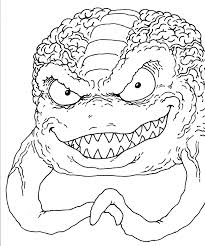 teenage mutant ninja turtles coloring pages shredder gallery