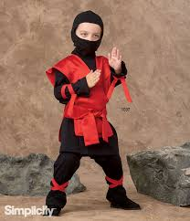 sewing pattern ninja costume sew this easy ninja costume for kids with simplicity pattern 1037