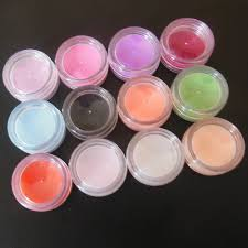 12 colors nail art powder dust for acrylic nail tips decoration
