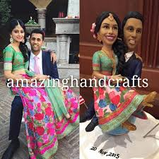 indian wedding cake toppers custom wedding cake toppers with lehenga saree indian wedding