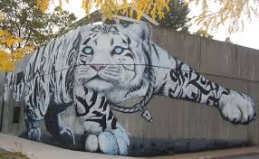white tiger mural by problak imagine nation and friends art white tiger mural by problak imagine nation and friends