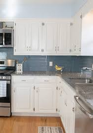 easy kitchen upgrade with peel and stick backsplash glass