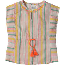 striped blouse kaftan striped blouse with embroidery neyira bonheur du jour