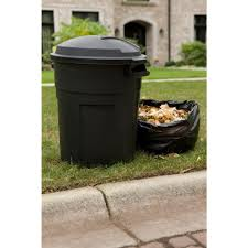 outdoor wheeled trash can 45 gallon capacity easy grip handles