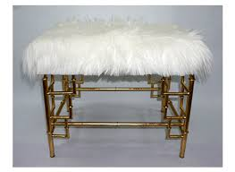 Gold Ottoman Thelounge Shaggy Luxe Gold Ottoman