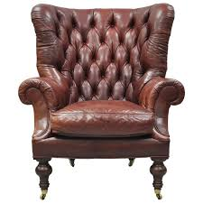 Leather Chesterfield Style Sofa Oversized Lillian August Brown Tufted Leather Chesterfield