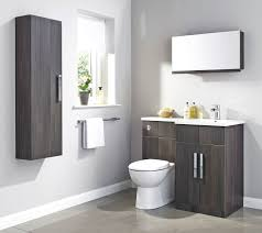 bathroom square white wall sink wall mirror wallmounted toilet