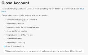 how to close your eventbrite account eventbrite support