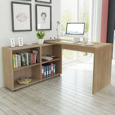 Corner Desk With Shelves by Vidaxl Co Uk Vidaxl Corner Desk 4 Shelves Oak