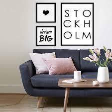 stockholm scandinavian design poster nordic design print